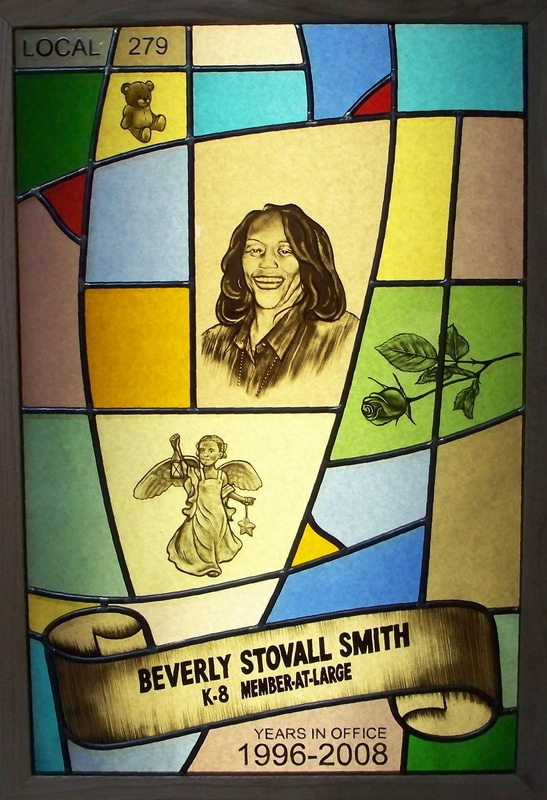 Picture: Beverly Stovall Smith Memorial Tribute Window by Bruce Buchanan Design