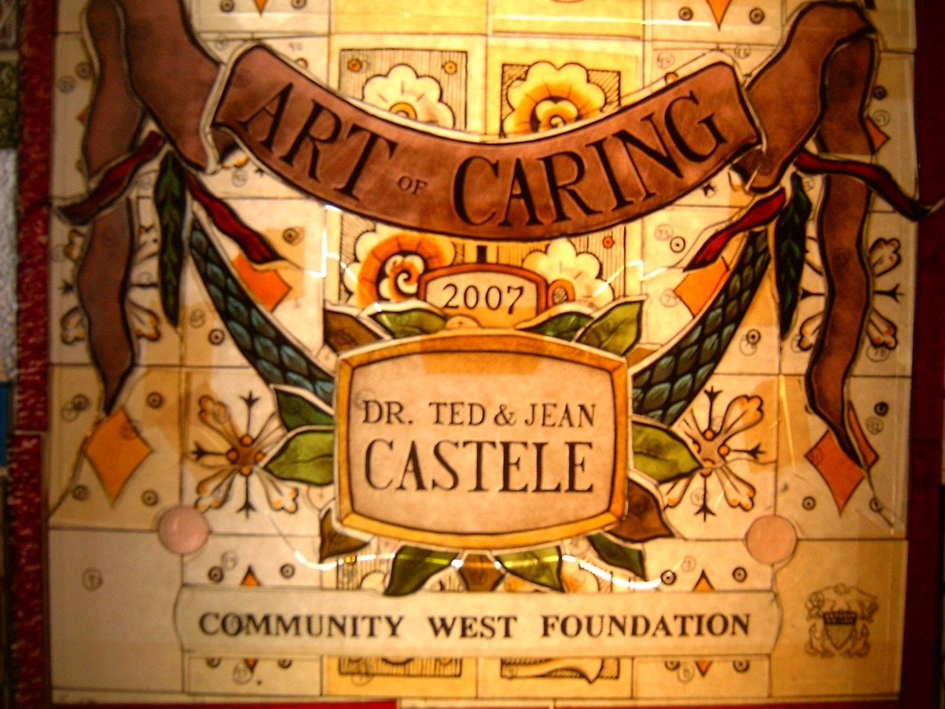 Picture: Dr. Ted and Jean Castele Art of Caring Award 2007 by Bruce Buchanan Design